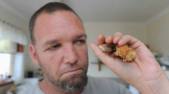 Ken Cavanagh says he doesn't think he'll feel like KFC for a long time after finding a fly in his chicken.