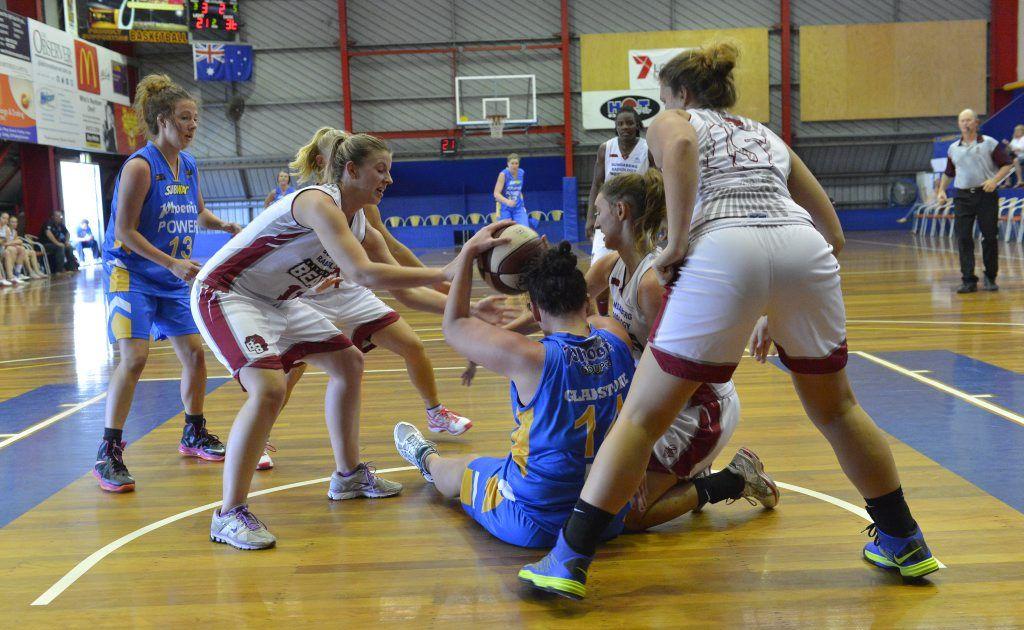 Women's basketball, Phoenix Power vs Bundaberg Bulls at Kev Broome Stadium.