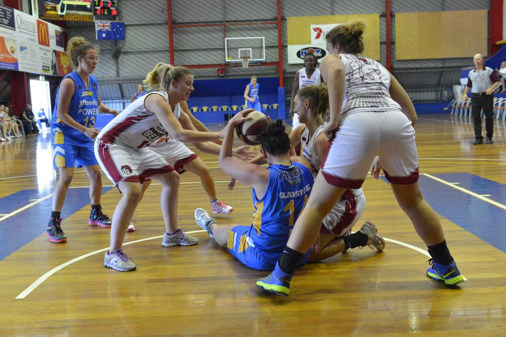 Women's basketball, Phoenix Power vs Bundaberg Bulls at Kev Broome Stadium.