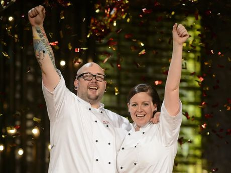 Dream come true: Dan and Steph are the 2013 My Kitchen Rules winners.