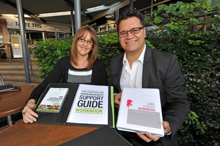Paula and Paul Misipeka from Workforce Redundancy and LABS Group present the LABS Program workbook for entrepreneurs and The Australian Redundancy Support Guide Workbook and DVD for employees.