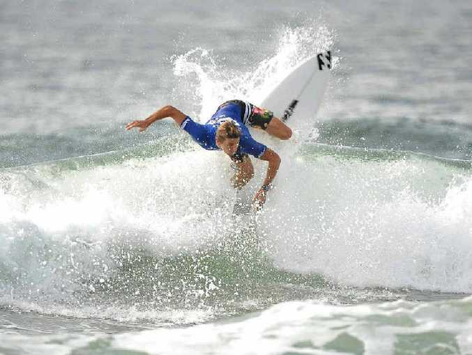 Two-time world junior champion Jack Freestone demonstrates his talent during the Hinano-Sunco Jeep Pro-Am at Maroochydore.