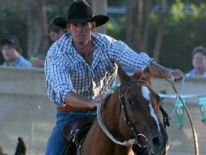 FAST PACED: Millmerran's Stephen Huth in the maiden final at the 2012 Stanthorpe Campdraft.