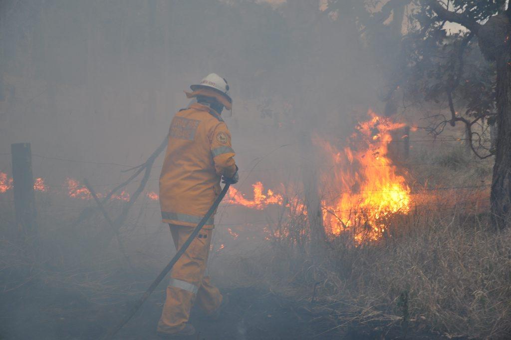 Firefighters undertaking a backburning operation.