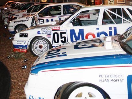 Brock Straight, a section of the Champion Brock Experience museum of Peter Brocks race cars. Photo Nikita Watts / The Morning Bulletin ROK161110brock-n1