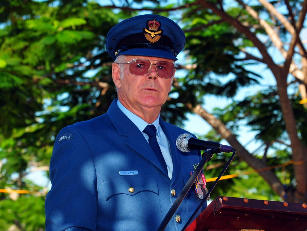 Anzac Day Ceremony at Tewantin: Parade Reviewing Officer John Philpot. Photo Geoff Potter / Noosa News