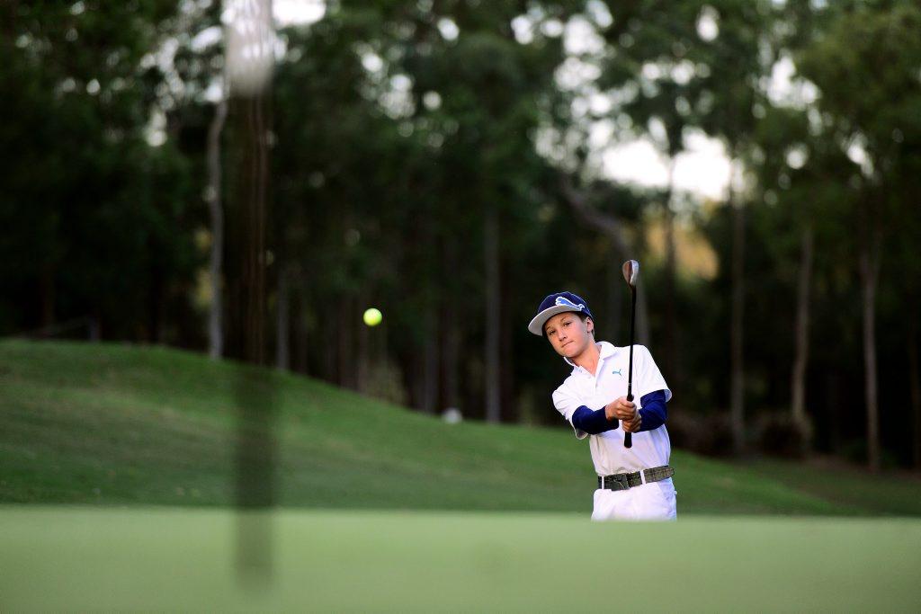 Golf player Louis Dobbelaar, 11, of Brookwater.