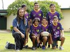PROGRAM WORKING: Kruger State School Rugby League program co-ordinator William Pei with students from the program.