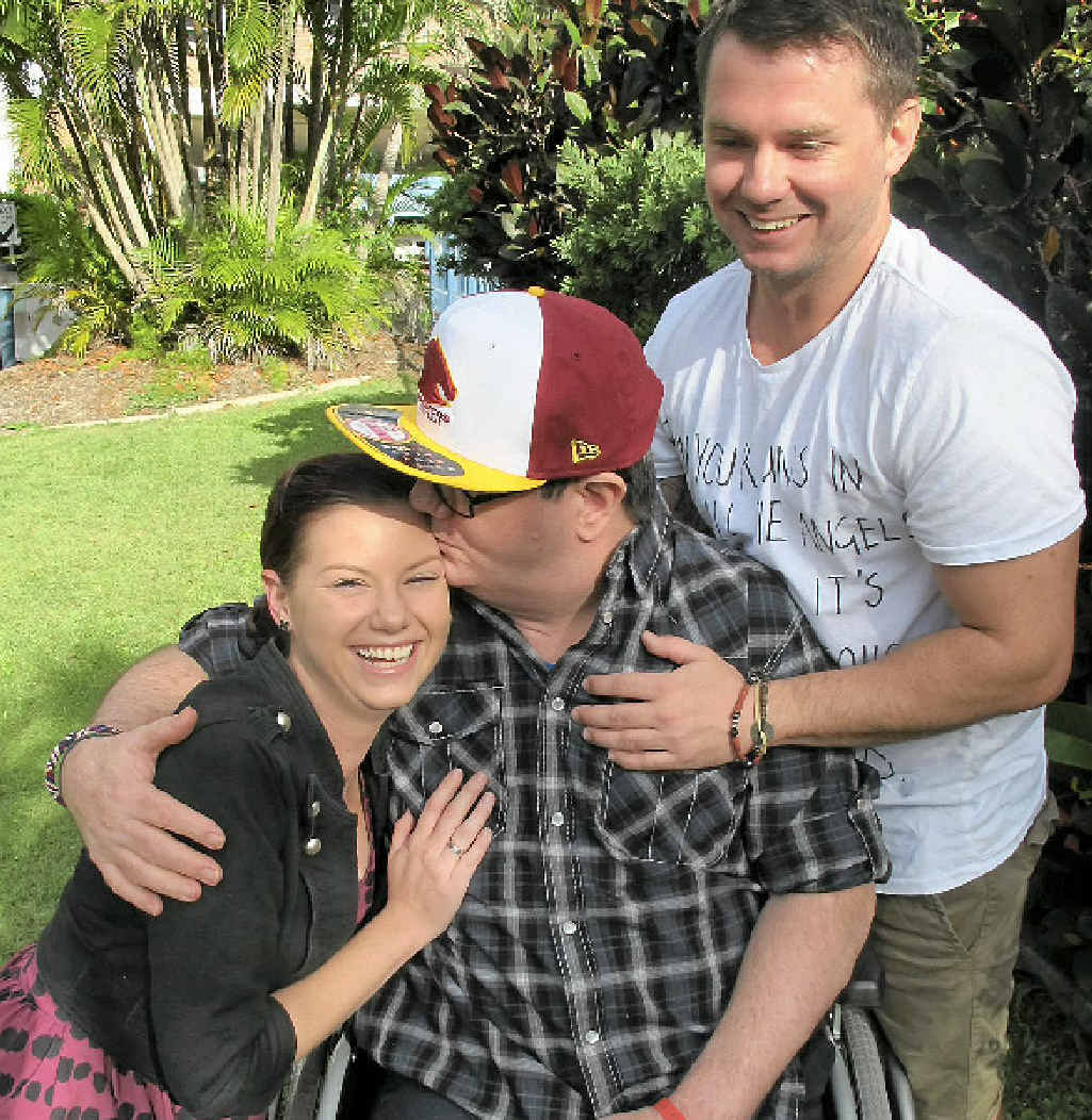 Jody and brother Brendan McDonald have struggled for two years to get their father, Steven McDonald, disability support accommodation.