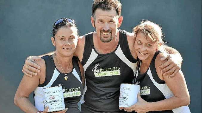 Tania Davey, Warren Smith and Donna Bitossi from the Fatburner Tough Club.
