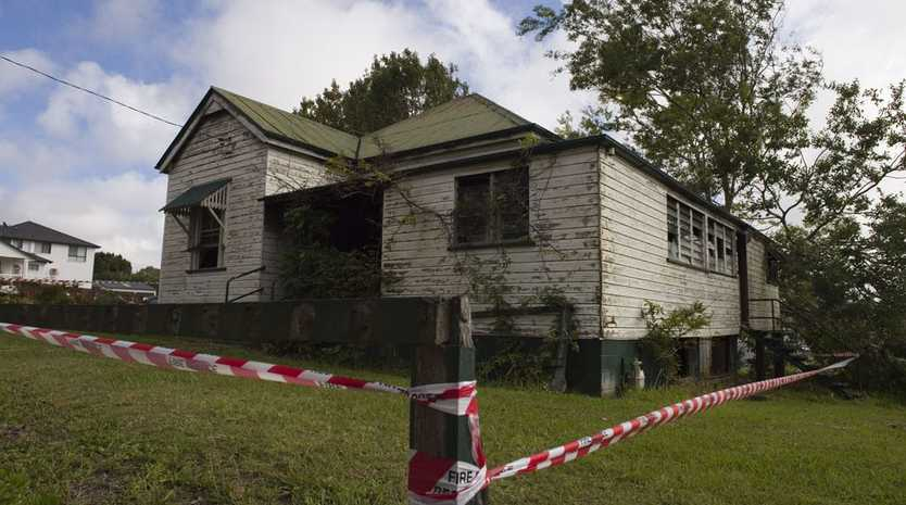 A unoccupied house at 239 James St after it was burnt Monday night.