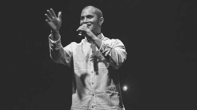 Stan Walker at the opening of Metro Church.