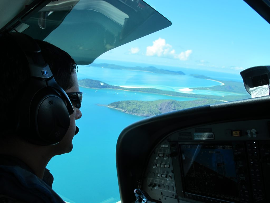 By seaplane or boat are the only ways to reach the pristine Whitehaven Beach.