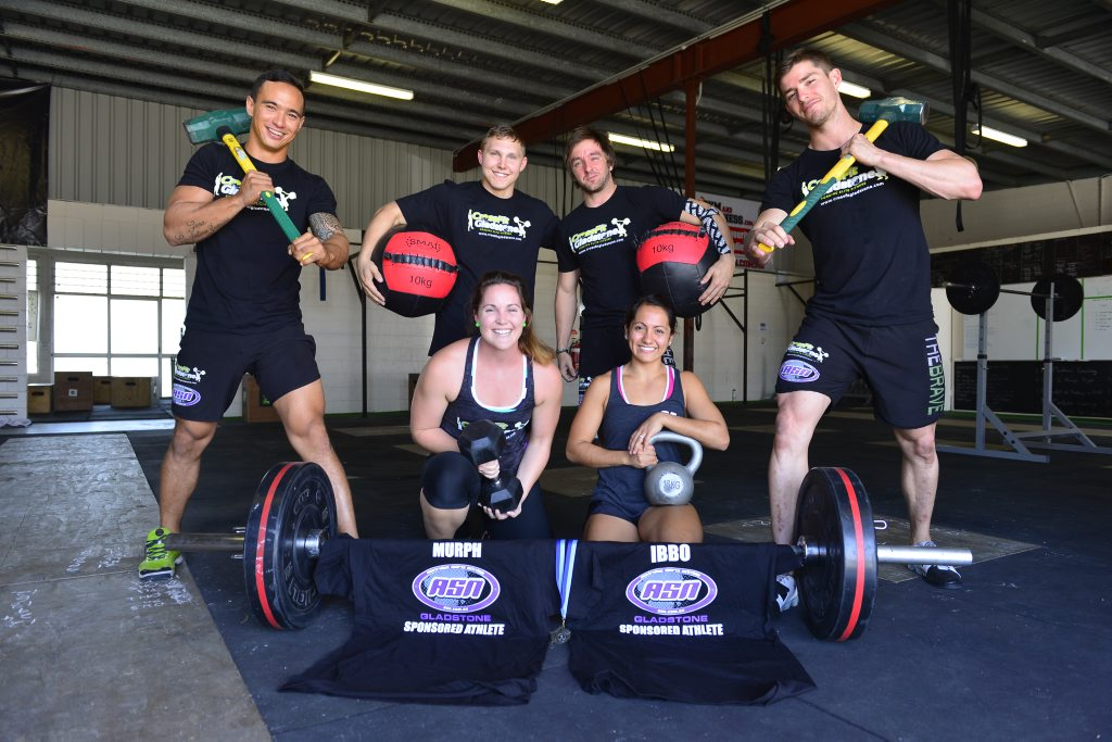 Gladstone Crossfit teams did well in state competition. (Back L-R) Benito Zussino, Nick Craige, Sean O'Neill and Cam Townsley. (Front L-R) Sarah Lowe and Jardan Morrish.