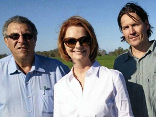 Paul Schembri, Julia Gillard and Will Higham in Mackay, where Ms Gillard last week announced an extension of the Reef Rescue program.