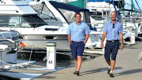 Mackay Marina and Shipyard assistant manager Bradley Lowien and manager Ben Anderson at Mackay Marina which has taken out Best Marina Award, being declared a world class facility.