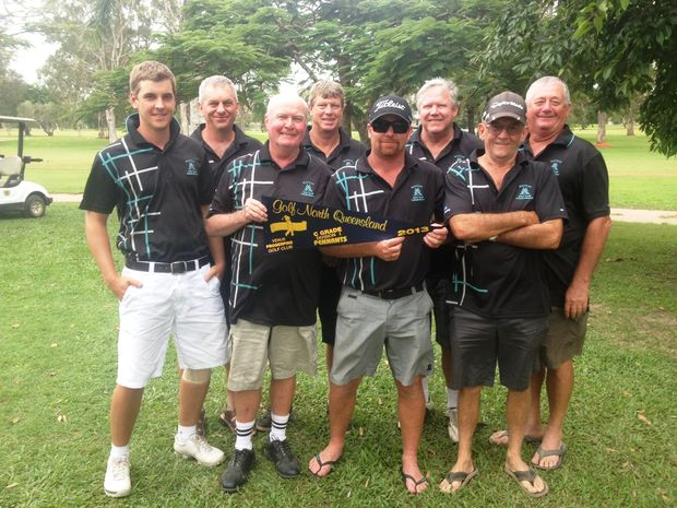 Mackay's winning C-grade pennants team is Dave Goodwin, Steve O'Donnell, Rusty Hoy (captain), Laurie Brown, Dave Watling, Darryl Falvey, John Morgan and Greg Webster.