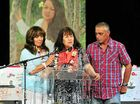 Moy's sisters and brother Diana, Ngaire and Greg remember their sister at yesterday's funeral service.