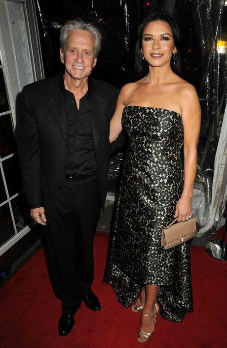 Michael Douglas with Catherine Zeta-Jones.