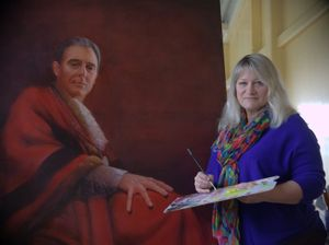 Artist suggested Gerard put on Mayoral robes for portrait