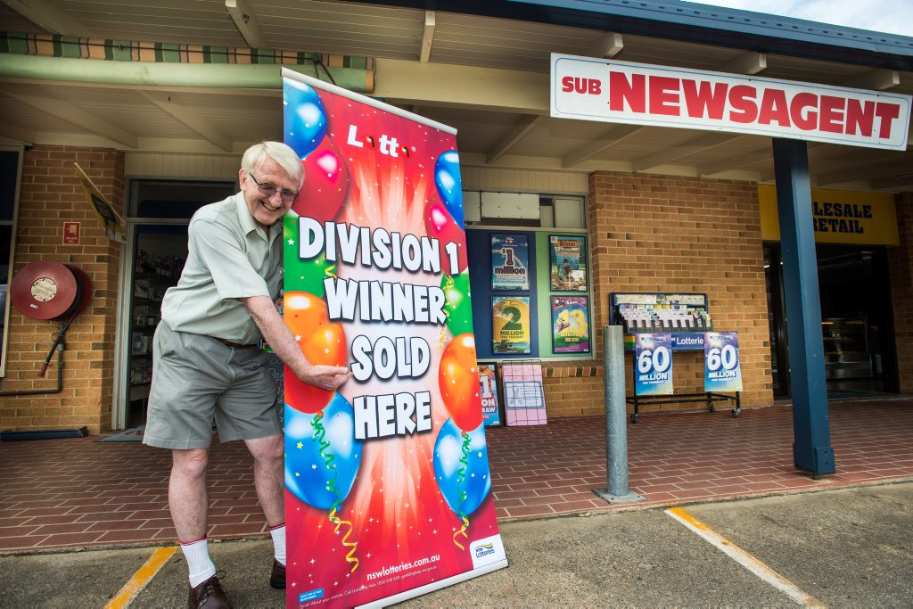 After a search lasting almost a week, the owner of the winning Lotto ticket bought at the Bray St sub-newsagency has been found.