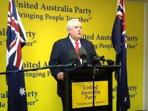 Clive Palmer launches Bill Schoch