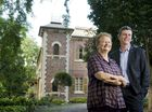 Owner Angela Geertsma and National Trust of Queensland executive officer Stewart Armstrong outside Historical Ipswich home Rockton House.