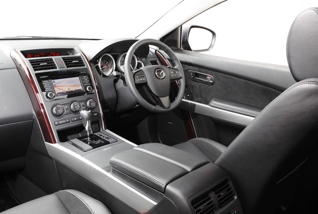 Inside the Mazda CX-9.