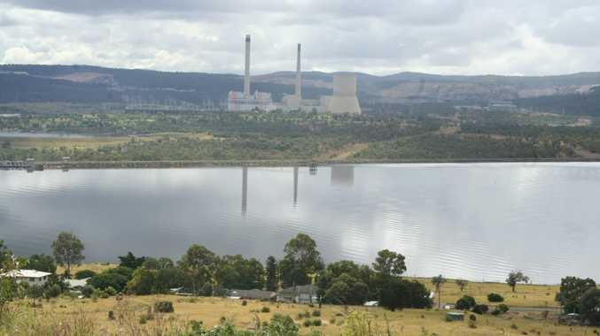 Anglo American's Callide open-cut coal mine on the banks of the Callide Dam, which supplies Biloela with drinking water.