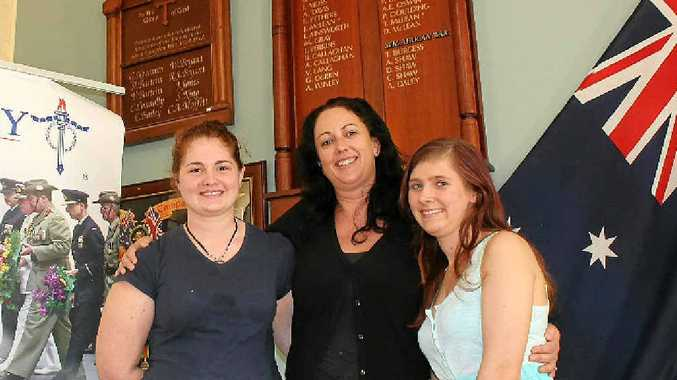 KEEPING LEGACY SPIRIT ALIVE: Local participants in an inaugural internship program, Ballina High's Megan Delaney, Southern Cross University graduate Katie Scott, from Lennox Head, and Ballina High's Melissa Cremin have been volunteering with Legacy while studying.