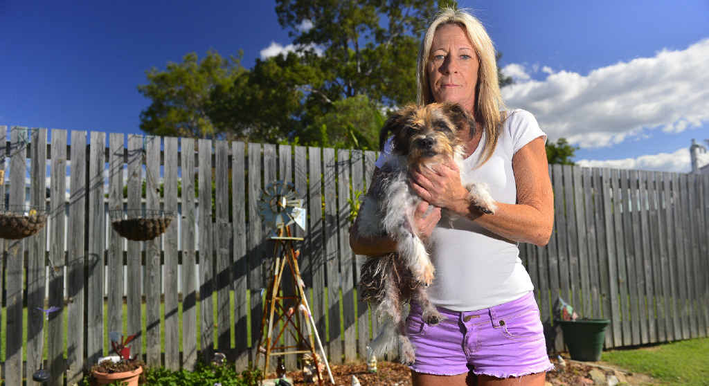 CALLOUS ACT: Annette Patersen can't understand why anyone would want to poison her dog Dags, aged 14.