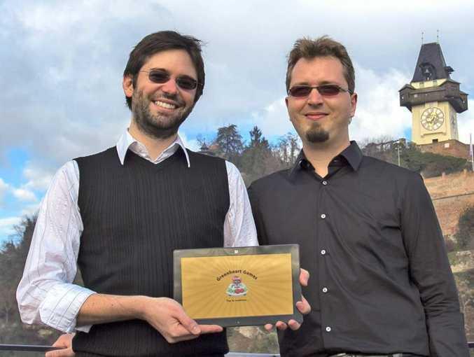 Game over: Developers Patrick (left) and Daniel Klug