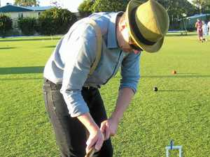 Bold move to play golf croquet for fifth anniversary