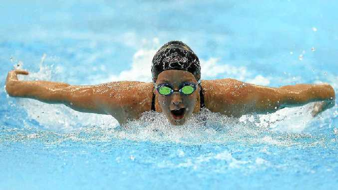 SILVER STREAK: Samantha Hamill of Australia competes in the women's 400m individual medley during day eight of the Australian Swimming Championships at SA Aquatic and Leisure Centre in Adelaide yesterday.