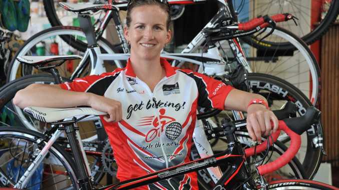Ange Castle is vying for the lead at Ironman Australia.