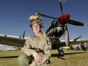 Spitfire landing impresses crowds