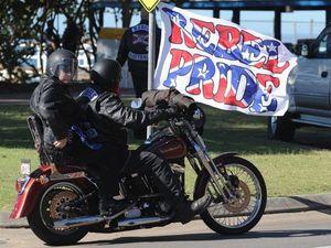 Show of strength by Rebels bikies in Hervey Bay on Saturday