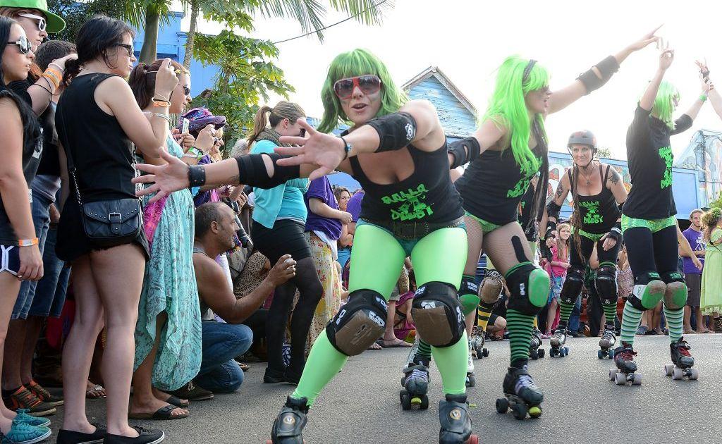The 2013 Nimbin Mardi Grass parade.