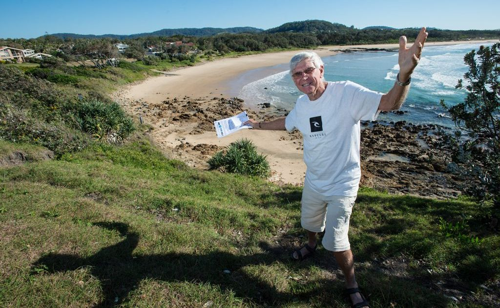Emerald Beach Fair committee member Ken Kennedy at Emerald Beach Photo:Trevor Veale / Coffs Coast Advocate