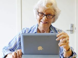 Image result for senior using ipad