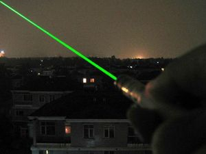 Playing with a laser pointer results in charges for boy