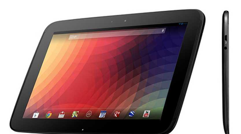 Google Nexus 10 tablet.