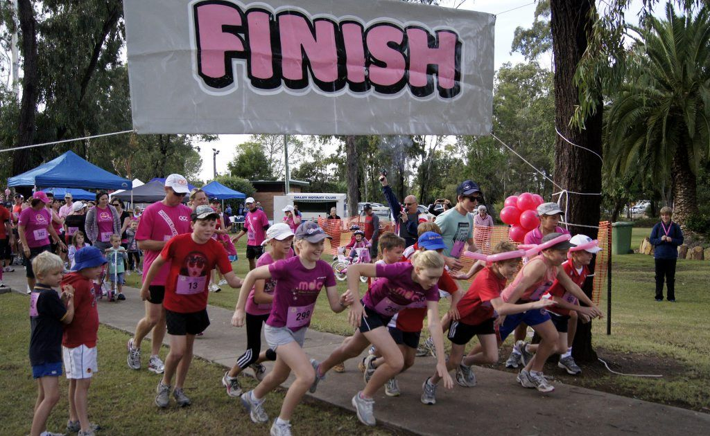 Adults and children of all ages took part in the Mother's Day Classic Fun Run and Walk in Dalby last year