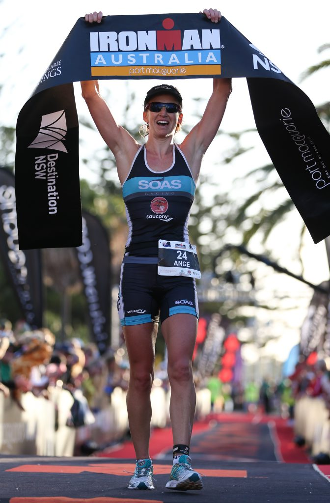Ange Castle secured second in Ironman Australia.