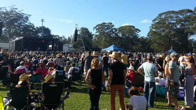 More than 2000 people watched some of the greats of Australian rock on Saturday.