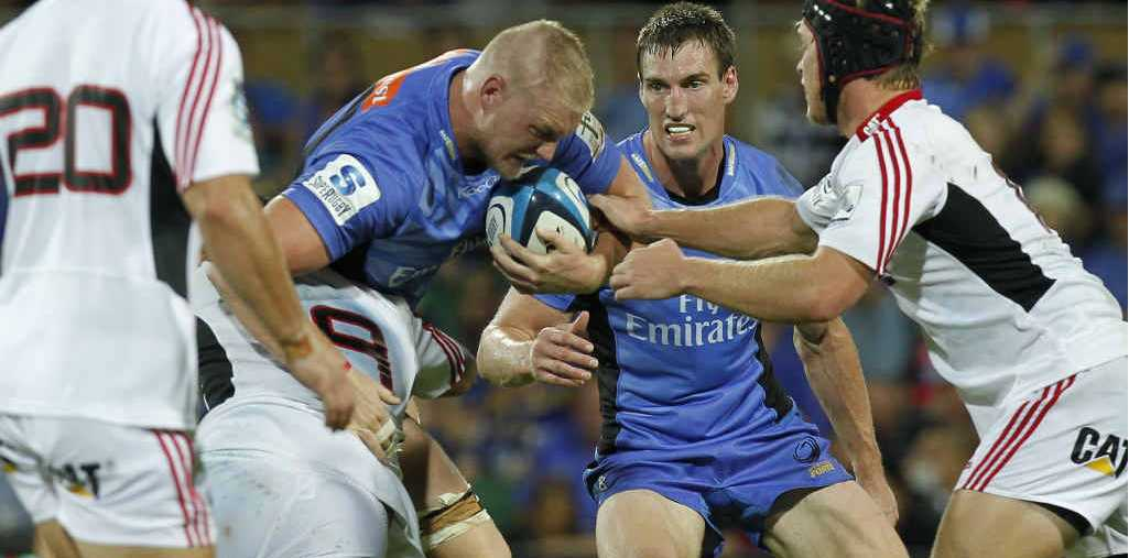 ADVANTAGE LINE: Western Force forward Rory Walton charges into the teeth of the Crusaders defence in the Force's 16-14 Super Rugby win in Perth last month.
