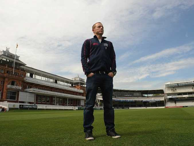 Chris Rogers of Middlesex and Australia poses at Lord's Cricket Ground on April 24, 2013 in London, England.