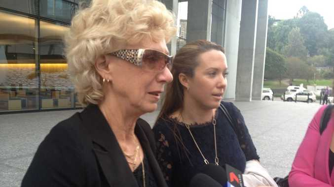 Junior Bronco Todd Parnell's mum Jenny Stirling and his sister Tara Parnell speak outside Brisbane Supreme Court after a jury cannot reach a verdict in the case into Todd's death.