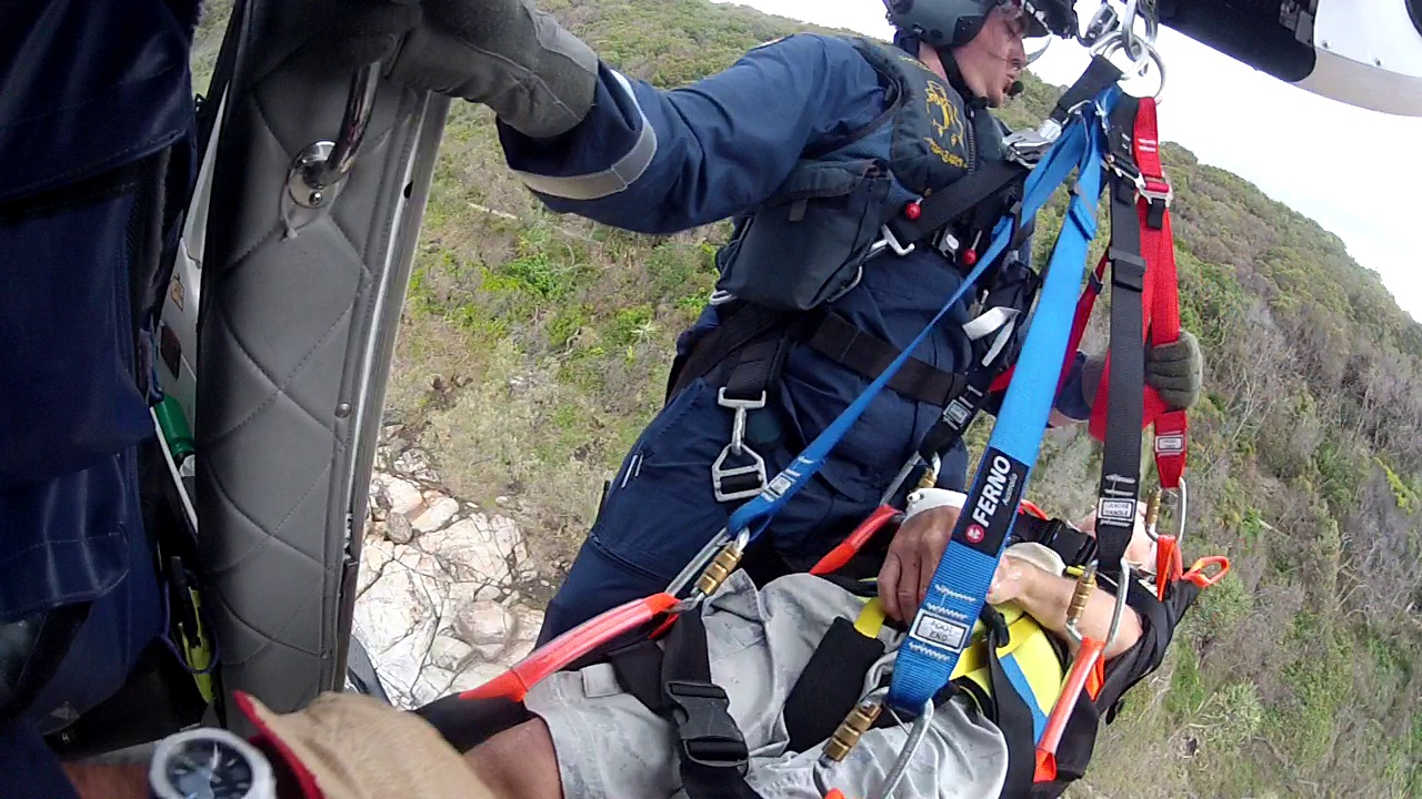 The AGL Action Rescue Helicopter flew to the rescue of a 70-year-old man at Noosa National Park.