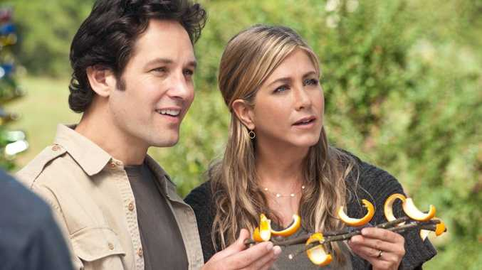 Paul Rudd and Jennifer Aniston in a scene from the movie Wanderlust.
